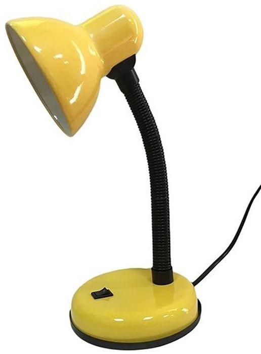 Светильник настольный REV, универсальный, цвет: желтый. 25051 725051 7_желтыйСветильник настольный REV предназначен для местного освещения в офисе или дома. Идеально подходит для чтения и выполнения домашних заданий детьми, равно как и для работы с бумагами или за компьютером. Подвижная ножка позволяет регулировать направление излучаемого света. На круглом основании расположена кнопка включения/выключения. Светильник работает от сети 220V.