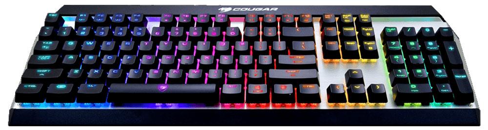Cougar Attack X3 RGB (Brown Switch) игровая клавиатура37ATRM4MB.003Механическая клавиатура Cougar Attack X3 RGB разработана с учетом всех ключевых особенностей, необходимых игрокам. Отличается элегантным дизайном с RGB светодиодной подсветкой.Механические оригинальные переключатели Cherry MX обеспечивают оперативность необходимую для клавиатуры игрового уровня, а также отличные тактильные ощущения при ее использовании. Технология Cherry MX гарантирует длительное пользование клавиатурой с максимальным ресурсом до 50 миллионов нажатий.Ключевые механические модули клавиатуры размещены на открытой и изогнутой алюминиевой конструкции с матовой поверхностью. Такой дизайн создает максимальный комфорт пользователям при наборе текста, не говоря уже о крепкости и надежности конструкции.При помощи сочетания кнопки FN и F4 можно выбирать тип подсветки. При этом есть сочетания, которые регулируют яркость подсветки, вплоть до ее отключения. Подсветка подсвечивает как русские, так и английские символы и красиво отливает от алюминиевой пластины. Шесть разнообразных эффектов с различными модификациями для поднятия настроения на новый уровень.Неограниченное количество одновременных нажатий клавиш с функцией N-Key Rollover. Позволяет получить точную передачу команд при единовременном нажатии любого количества клавиш. При желании можно переключиться на режим 6-Key Rollover.Управляйте медиа-функциями с легкостью комбинаций клавиш FN + F. Управление звуком: громче, тише, выключение звука.Встроенная память позволяет с легкостью настроить до 30 макросов. Мгновенное переключение между тремя разными профилями, активируя настройки под конкретную игру.Высокое качество противоскользящих резиновых ножек фиксирует клавиатуру Cougar Attack X3 RGB на своем месте даже во время интенсивных игровых сессий.Возможность сохранения до 3 профилей на клавиатуре, а также переносить настроенные установки на другой ПК.