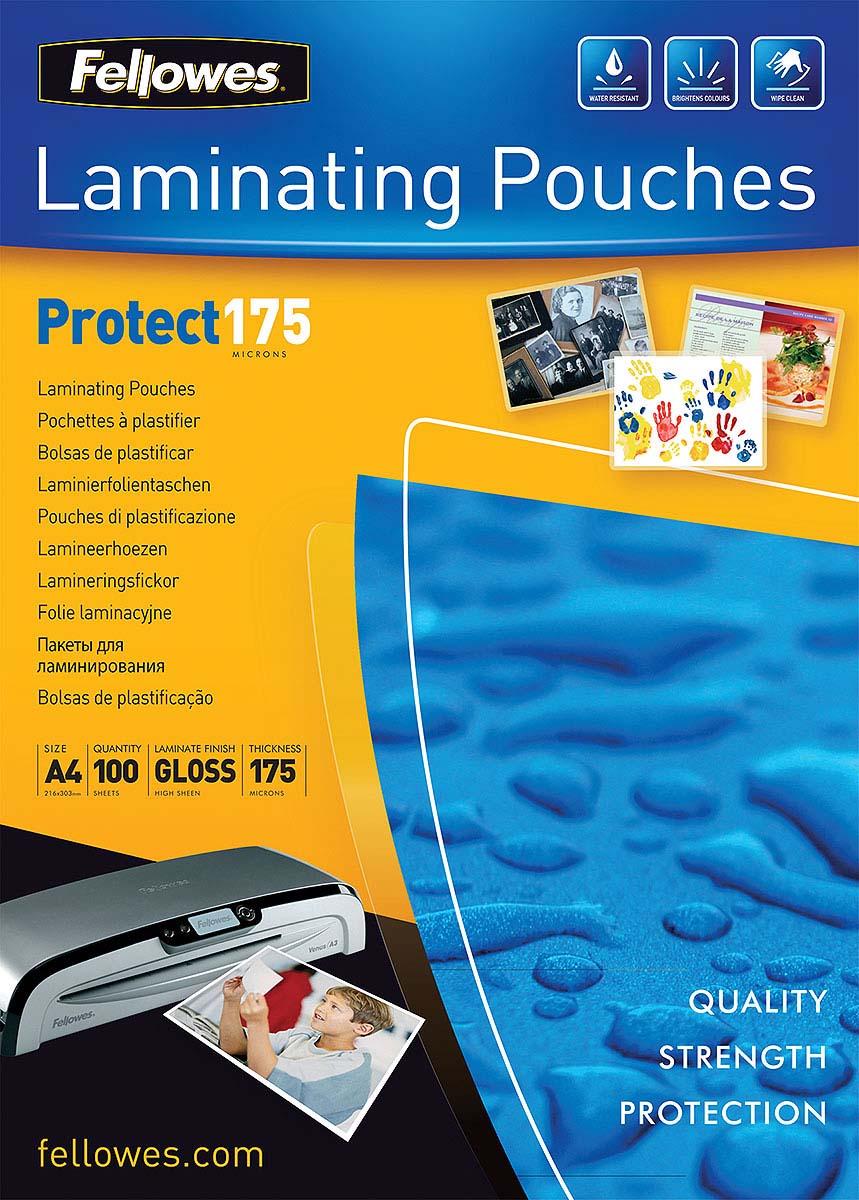 Fellowes А4 FS-53087 пленка для ламинирования, 175 мкм (100 шт)FS-53087Пленка для горячего ламинирования глянцевая, с высоким содержанием полиэстера (50%). Используется для защиты документов от влаги, загрязнения, механических повреждений, придания жесткости и яркости. Обладает высокой прозрачностью.