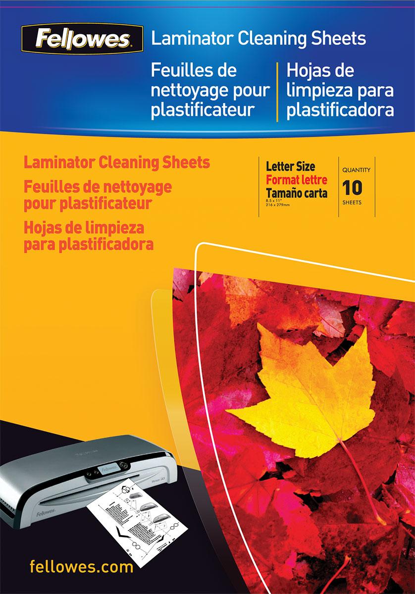 Fellowes FS-53206 чистящий лист для ламинаторов (10 шт)FS-53206Чистящий лист адсорбирует остатки клея, пыли и грязи с поверхности валов. Очистка ламинатора поможет сохранить стабильное высокое качество ламинирования без заторов и продлит срок службы.