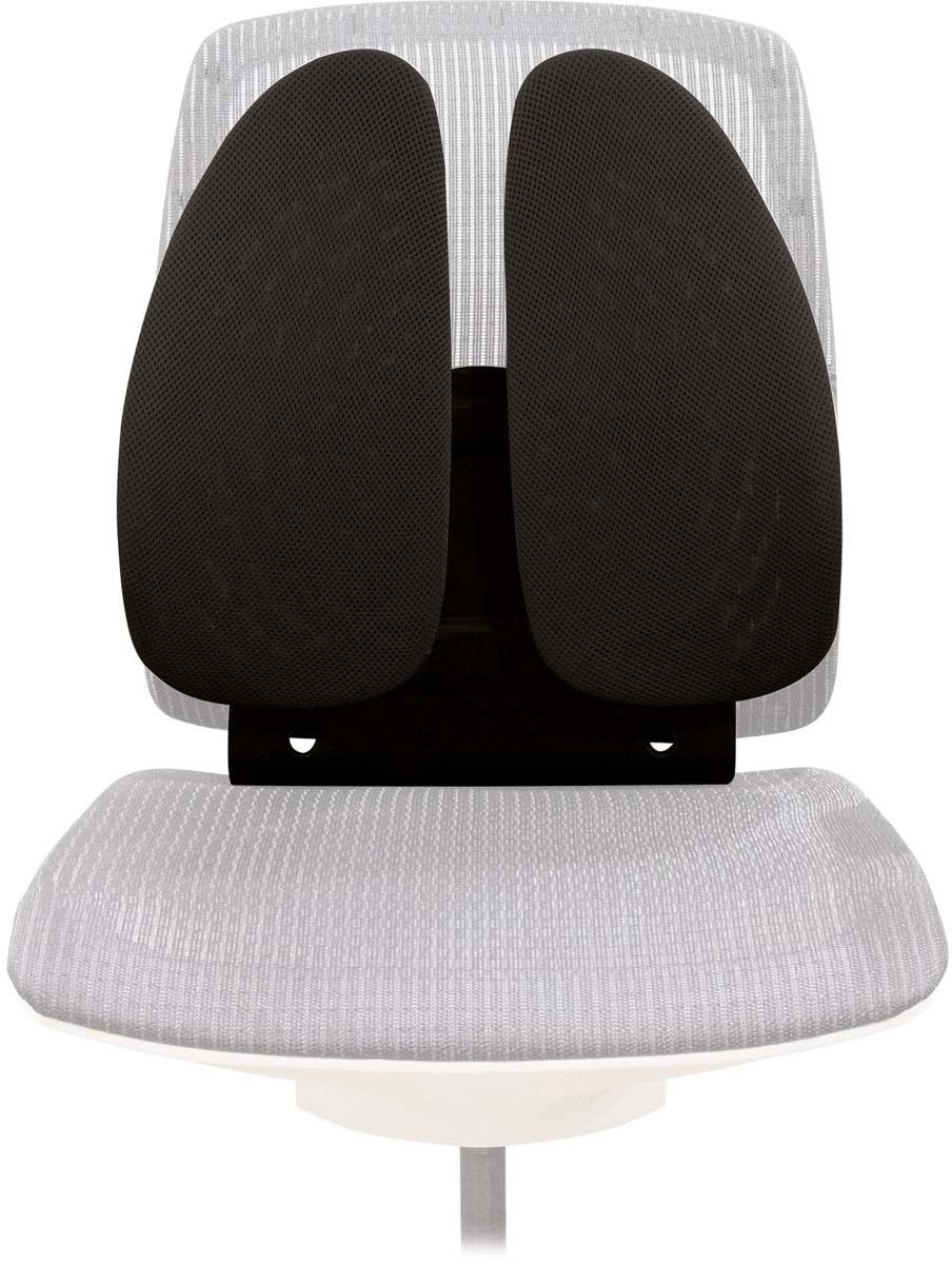 Fellowes Back Angel поддерживающая подушка для спиныFS-80264Регулируемая поддерживающая подушка для офисного кресла Back Angel, артикул FS-80264, имеет необычную форму в виде поддерживающих крыльев, которые обеспечивает постоянную поддержку поясницы и позвоночника. Пружинный механизм основания подушки позволяет мгновенно адаптироваться к движениям пользователя. Благодаря возможности регулировки расположения подушки в 7 положениях (от 14 см до 23 см) Вы сможете обеспечить себе непревзойденный комфорт. Подушка легко и надежно крепится к офисному стулу, сетчатое основание обеспечивает свободную циркуляцию воздуха.Современный дизайн подойдет к любому рабочему месту.Размер подушки: В440 х Ш380 х Г140 мм.