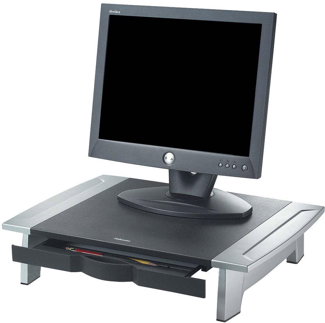 Fellowes Office Suites подставка под мониторFS-80311Подставка под монитор FS-80311 обеспечивает эффективную организацию рабочего пространства. Имеется выдвижной ящик для мелочей. Фиксируемы положения высоты подствки от 100 до 150 мм.