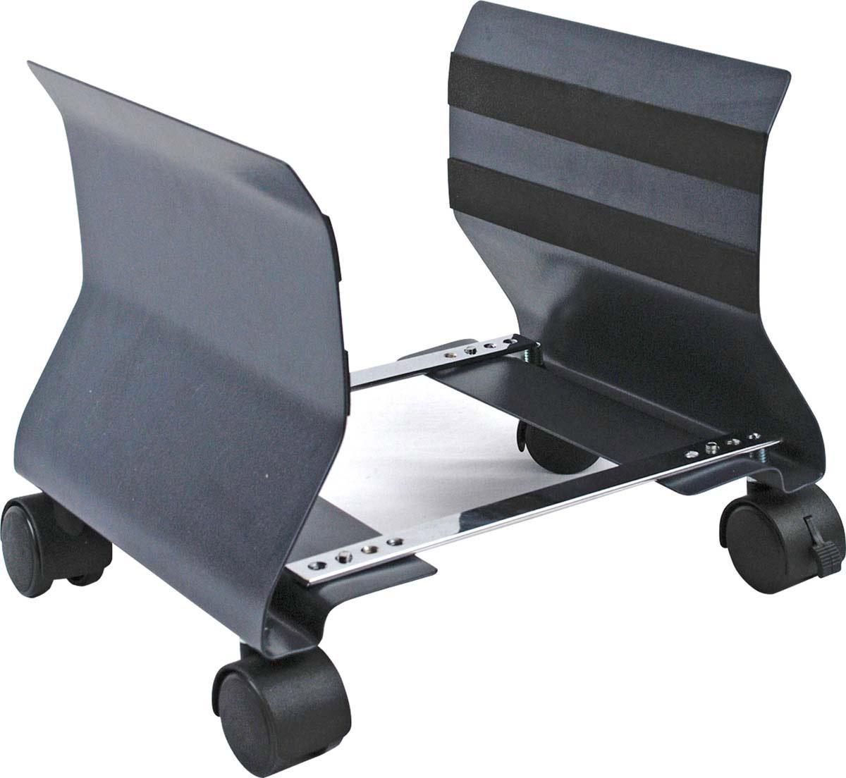 Fellowes FS-91692 подставка под системный блокFS-91692Подставка FS-91692 идеально подходит для размещения системного блока под или около стола.Регулируемая ширина: от 152мм до 229мм.Надежная стальная конструкция обеспечивает удобное расположение системного блока.Ролики для мобильности (на двух колесах возможность фиксации для обеспечения устойчивости).
