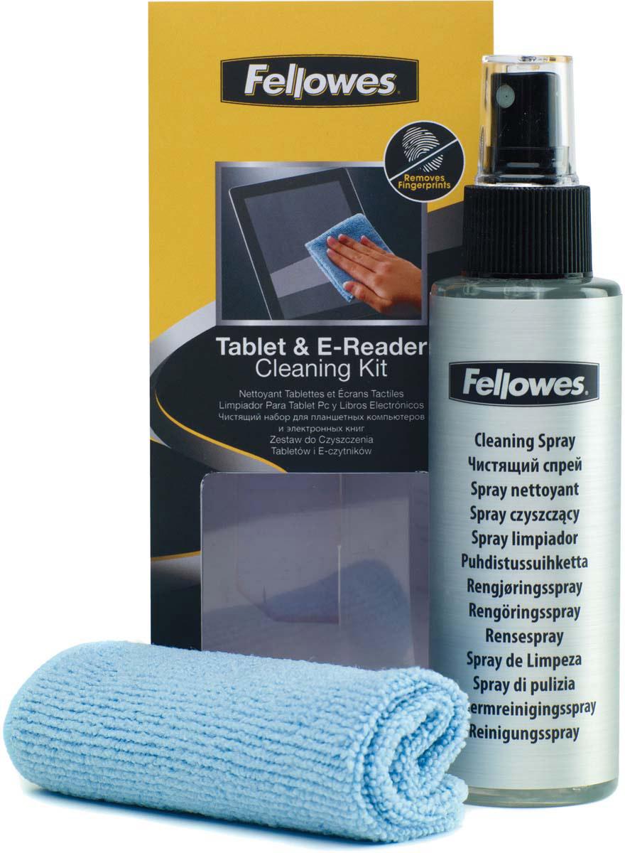 Fellowes FS-99305 чистящий набор для планшетных компьютеров, электронных книг и другой портативной техникиFS-99305Деликатно удаляет отпечатки пальцев с экрана. Создает защитный слой, отталкивающий пыль и грязь, обладает антистатическим эффектом. Не содержит абразивов. Дерматологически безопасен.