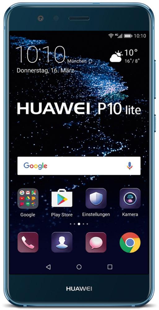 Huawei P10 Lite, Blue51091NCDБлагодаря двойному 2.5D стеклу, металлическому корпусу с алмазной обработкой и лаконичной конструкции смартфон Huawei P10 Lite прекрасно выглядит и его приятно держать в руках.Стекло, покрывающее обе панели смартфона, гладкое и приятное на ощупь. Оно имеет седьмой уровень твердости по шкале Мооса, что делает смартфон прочным и устойчивым к царапинам и повреждениям. Водная гладь стала основой сапфирового синего цвета модели, а блестящая пленка толщиной 0,1 мм под задней стеклянной панелью напоминает водную рябь, которая меняется в зависимости от освещения.Благодаря процедуре ЧПУ алюминиево-магниевый корпус стал еще прочнее, красивее и долговечнее. А специальная процедура окисления придает смартфону яркость и предотвращает появление царапин.В результате керамической обработки боковые грани модели обретают рельефную отделку и в то же время гладкую поверхность, поэтому смартфон удобно держать в руках.Смартфон оснащен FHD-дисплеем с диагональю 5,2 дюйма, обеспечивающим широкую гамму RGB-цветов. С ним вы сможете запечатлеть всю красоту окружающего мира! В темное время суток снижается интенсивность свечения экрана, повышается комфорт для глаз.Аккумулятор емкостью 3000 мАч быстро заряжается и долго держит заряд. 10-минутной подзарядки хватает на 2 часа беспрерывного просмотра видео. Наличие сертификатов от 11 международных организаций, пятиуровневая система безопасности и технология быстрой зарядки дают вам возможность уверенно выполнять различные задачи с любой скоростью.Интеллектуальный аккумулятор с технологией Smart Power-Saving 5.0, которая продлевает время работы без подзарядки, снижает энергопотребление и оптимизирует использование приложений. Длительное время работы от аккумулятора позволяет дольше пользоваться любимыми приложениями.Процессор Kirin 658 сокращает энергопотребление и повышает производительность. Ультрасовременный пользовательский интерфейс EMUI 5.1 не только быстро работает, но также удобен в использовании и привлекателен 