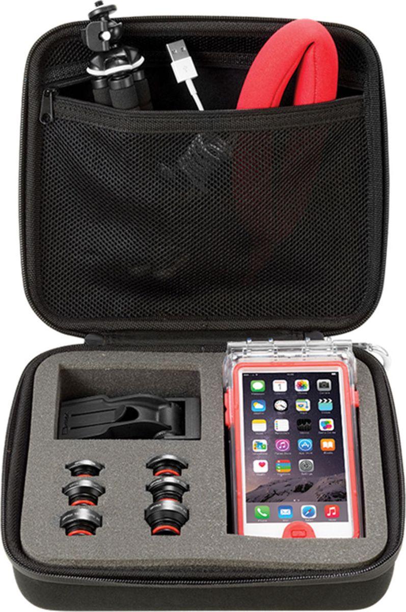 Optrix BG, Black Red защитная сумка для смартфонаFS-94782В данной защитной сумке Optrix вы удобно уместите ваш смартфон, чехол Optrix by Body Glove, мелкие аксессуары и фото принадлежности. Легкая в использовании сумка подходит для хранения и защиты любого чехла Optrix. Подходит для хранения кабелей питания, сменных объективов, прочих мелких аксессуаров. Включает карабин для крепления к рюкзаку, внутренний карман для мелочей, ручку для переноски. Жесткий корпус надежно защитит содержимое сумки. • Внутреннее отделение из поролона обеспечит безопасное храние чехлов всех размеров и объективов• Закрывается на молнию• Подходит ко всем чехлам Optrix by Body Glove