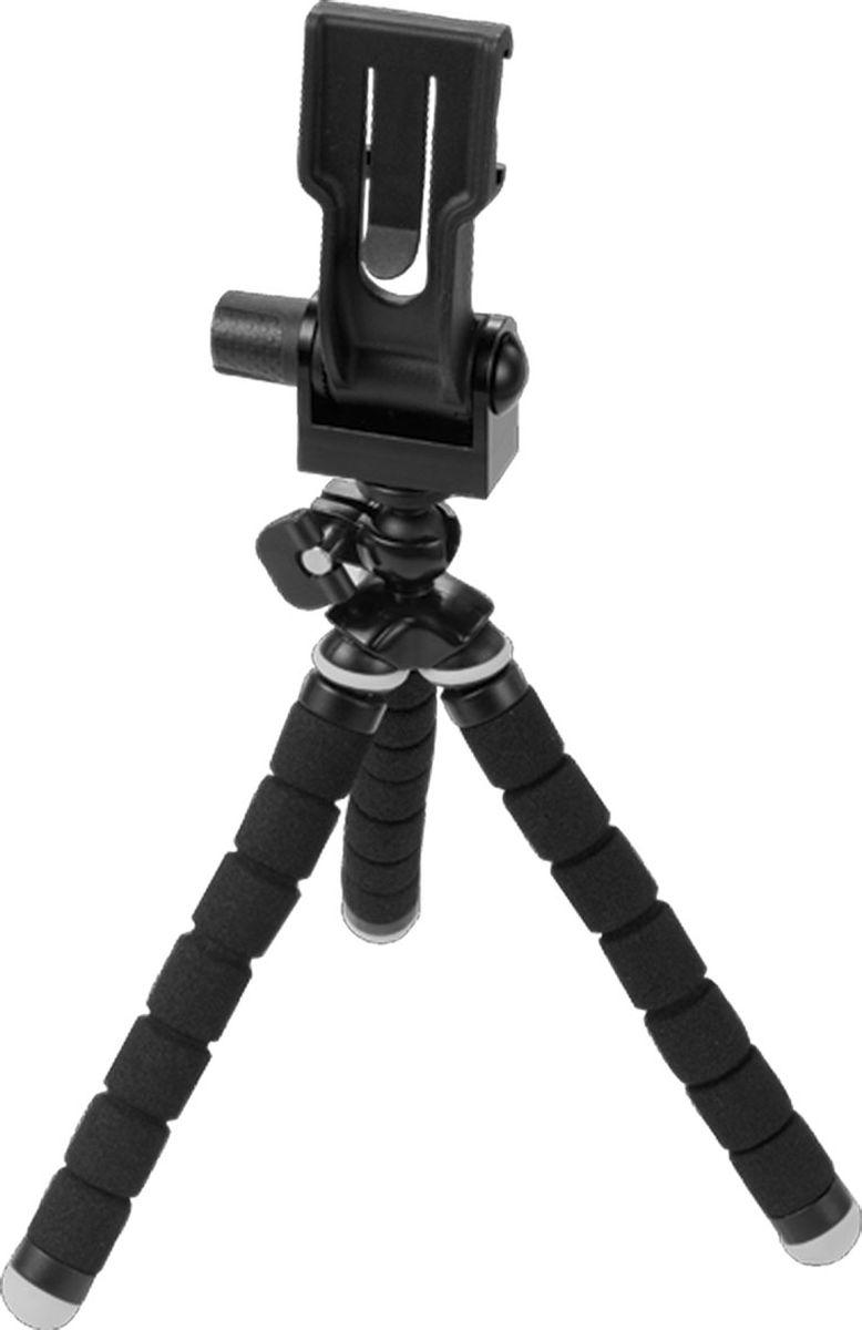 Optrix Tripod, Black штатив для смартфонаFS-94694Легкий и компактный штатив с гибкими ножками. Можно использовать как обычный штатив трипод, а также крепить к веткам деревьев, столбам и другим объектам для создания уникальных снимков. • Компактный и легкий• Комплект из 20 шт винтов (1/4) для крепления фотоаппаратов, видеокамер, в том числе для камер GoPro• Подходит для всех чехлов Optrix by Body Glove