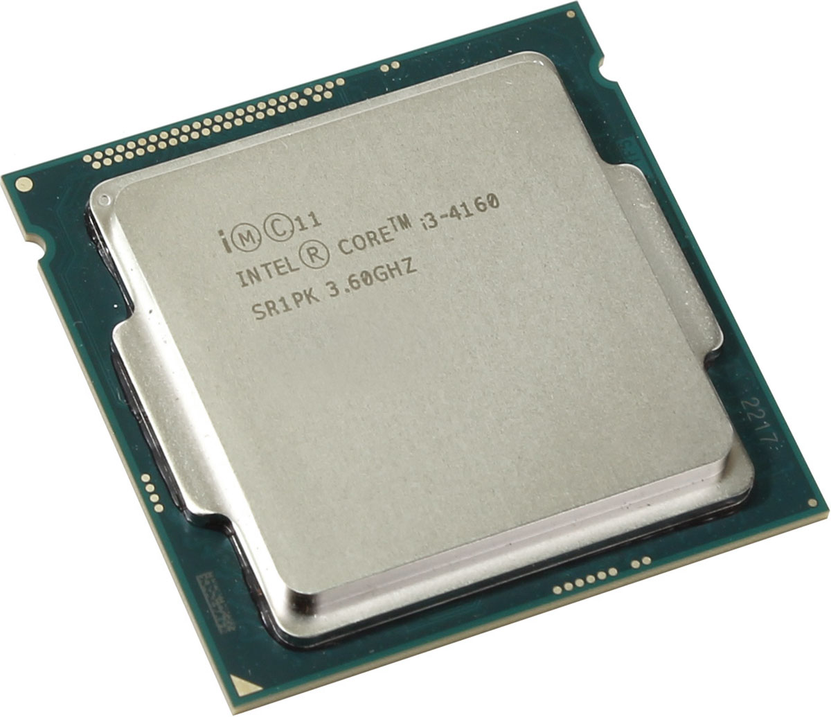 Intel Core i3-4160 процессор947533Intel Core i3-4160 - процессор для настольных персональных компьютеров, основанных на платформе Intel.В основе лежит архитектура Haswell, что позволяет оптимизировать работу двух ядер, функционирующих на частоте 3600 МГц. Дополнительное быстродействие обеспечивается кэш-памятью третьего уровня объемом 3072 КБ. Обработка изображения перед демонстрацией его на мониторе ПК осуществляется графическим процессором Intel HD Graphics 4400.Для двусторонней передачи данных между Intel Core i3-4160 и оперативной памятью компьютера предусмотрен встроенный контроллер, поддерживающий модули размером до 32 ГБ. Также в данной модели установлены контроллер PCI-E 3.0 и системная шина DMI 2.0, которые используются для связи с другими элементами ПК.Энергопотребление процессора сохраняется на оптимальном уровне благодаря применению технологии Enhanced SpeedStep.