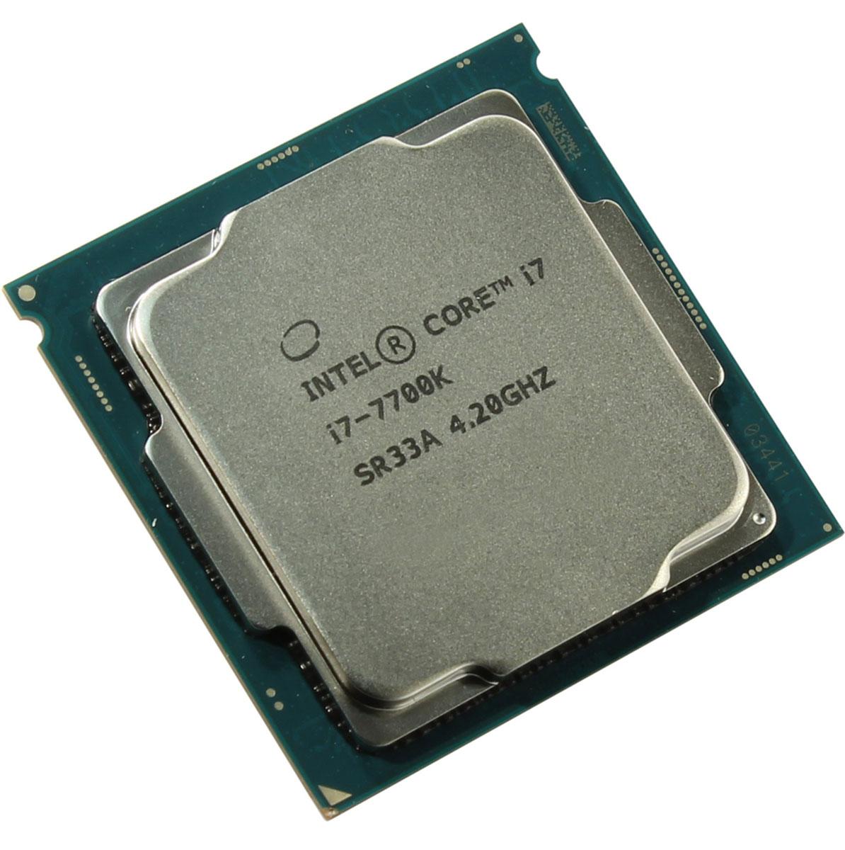 Intel Core i7-7700K процессор396388Процессор Intel Core i7-7700K обеспечит высокую производительность системы, когда это необходимо.Одна из ключевых особенностей Kaby Lake кроется в поддержке HEVC кодирования и декодирования 4К видео. Процессоры 7-го поколения Intel, теперь перепоручают данную работу непосредственно графической карте, и не задействуют, как это было раньше, свои собственные ядра, тем самым качество потока 4К видео улучшается.Пользователь заметит и значительные улучшения в работе с 3D графикой при использовании Kaby Lake, в сравнении с предыдущими поколениями, что напрямую говорит об улучшении игрового процесса.Поддержка DirectX 12,Поддержка интерфейса Direct Media,Поддержка интерфейса PCI Express 3.0,Разблокированный множитель,Функция Execute Disable Bit