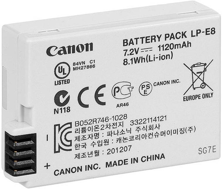 Canon LP-E8 аккумулятор для EOS 550D/ 600D4515B002