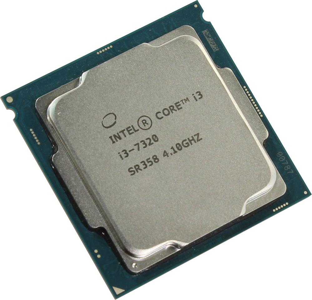 Intel Core i3-7320 процессор410653Core i3-7320 - процессор для настольных персональных компьютеров, основанных на платформе Intel.В основе лежит архитектура Kaby Lake, что позволяет оптимизировать работу двух ядер и четырех потоков, функционирующих на частоте 4,1 ГГц. Дополнительное быстродействие обеспечивается кэш-памятью третьего уровня объемом 4 МБ. Обработка изображения перед демонстрацией его на мониторе ПК осуществляется графическим процессором Intel HD Graphics 630.Для двусторонней передачи данных между Intel Core i3-7320 и оперативной памятью компьютера предусмотрен встроенный контроллер, поддерживающий модули размером до 64 ГБ. Также в данной модели установлены контроллер PCI-E 3.0 и системная шина DMI 3.0, которые используются для связи с другими элементами ПК.