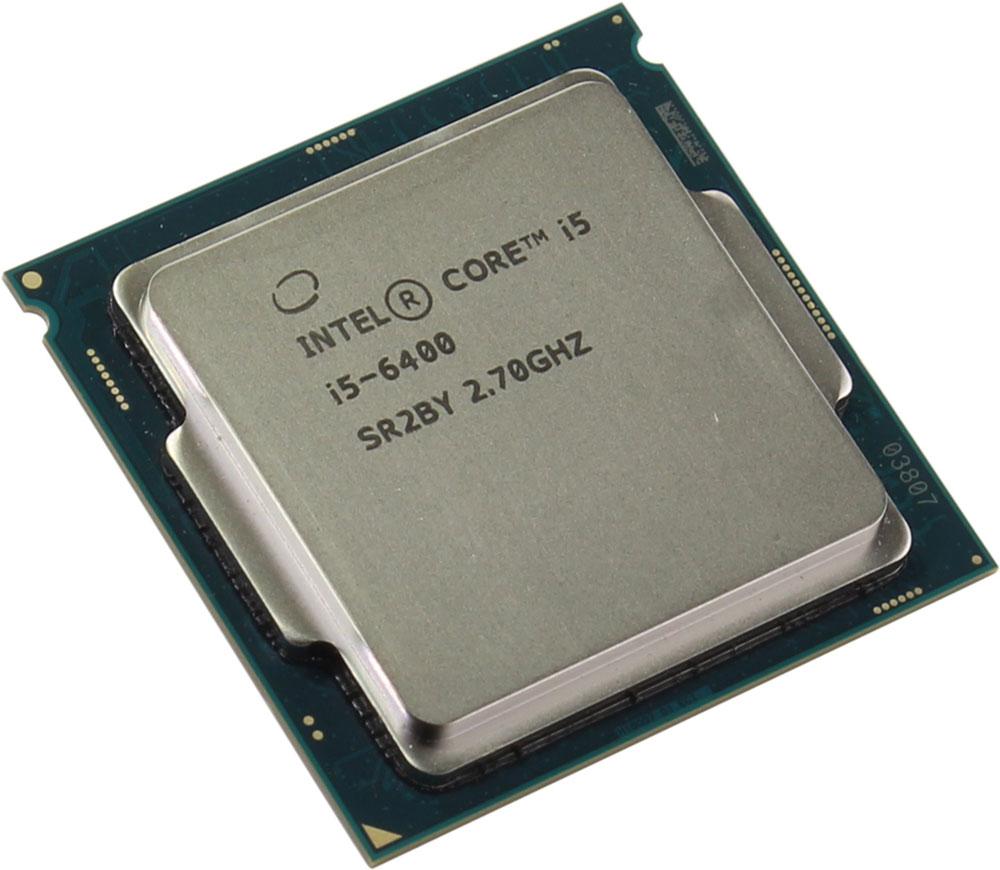 Intel Core i5-6400 процессор341847Core i5-6400 - процессор для настольных персональных компьютеров, основанных на платформе Intel.В основе лежит архитектура Skylake, что позволяет оптимизировать работу четырех ядер, функционирующих на частоте 2,7 ГГц (3,3 ГГц в режиме Turbo Boost). Дополнительное быстродействие обеспечивается кэш-памятью третьего уровня объемом 6 МБ. Обработка изображения перед демонстрацией его на мониторе ПК осуществляется графическим процессором Intel HD Graphics 530.Для двусторонней передачи данных между Intel Core i5-6400 и оперативной памятью компьютера предусмотрен встроенный контроллер, поддерживающий модули DDR4/DDR3L размером до 64 ГБ. Также в данной модели установлены контроллер PCI-E 3.0 и системная шина DMI 3.0, которые используются для связи с другими элементами ПК.