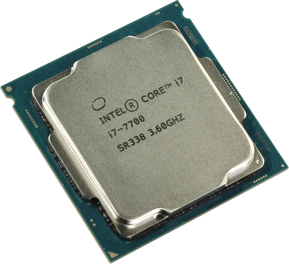 Intel Core i7-7700 процессор396383Core i7-7700 - процессор для настольных персональных компьютеров, основанных на платформе Intel. Обеспечит высокую производительность системы, когда это необходимо.В основе лежит архитектура Kaby Lake, что позволяет оптимизировать работу четырех ядер, функционирующих на частоте 3,6 ГГц (4,2 ГГц в режиме Turbo Boost). Дополнительное быстродействие обеспечивается кэш-памятью третьего уровня объемом 8 МБ. Обработка изображения перед демонстрацией его на мониторе ПК осуществляется графическим процессором Intel HD Graphics 630.Одна из ключевых особенностей Kaby Lake кроется в поддержке HEVC кодирования и декодирования 4К видео. Процессоры 7-го поколения Intel, теперь перепоручают данную работу непосредственно графической карте, и не задействуют, как это было раньше, свои собственные ядра, тем самым качество потока 4К видео улучшается.Пользователь заметит и значительные улучшения в работе с 3D графикой при использовании Kaby Lake, в сравнении с предыдущими поколениями, что напрямую говорит об улучшении игрового процесса.Для двусторонней передачи данных между Intel Core i7-7700 и оперативной памятью компьютера предусмотрен встроенный контроллер, поддерживающий модули DDR4/DDR3L размером до 64 ГБ. Также в данной модели установлены контроллер PCI-E 3.0 и системная шина DMI 3.0, которые используются для связи с другими элементами ПК.