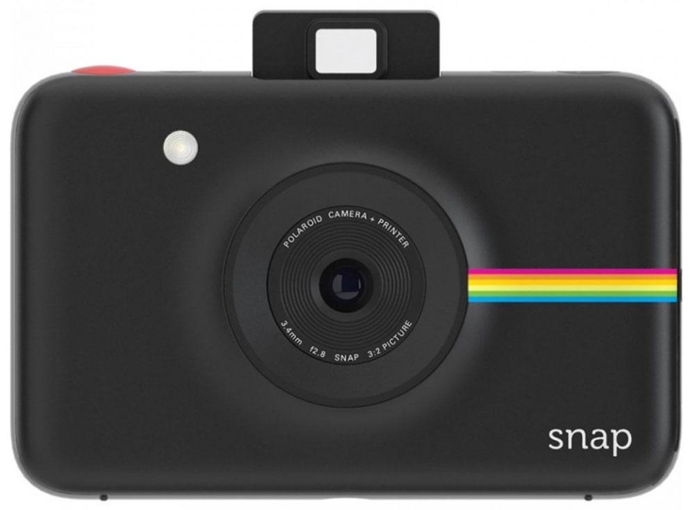Polaroid Snap, Black фотокамера мгновенной печатиPOLSP01BEPolaroid Snap — компактная камера, способная сразу распечатать полученный снимок.В устройстве используется технология ZINK, позволяющая получать отпечатки без использования чернил. Данная разработка уже успела зарекомендовать себя в других камерах Polaroid. Снимки разрешением 10 Мп мгновенно преобразуются в отпечатки размером 2х3 дюйма.Хранить фотографии можно на карте памяти microSD объёмом до 32 ГБ. Дополняют картину несколько сценариев съёмки, возможность выставить таймер, а также режим, в котором камера делает шесть снимков за 10 секунд.Формат отпечатков: 50 мм х 75 мм