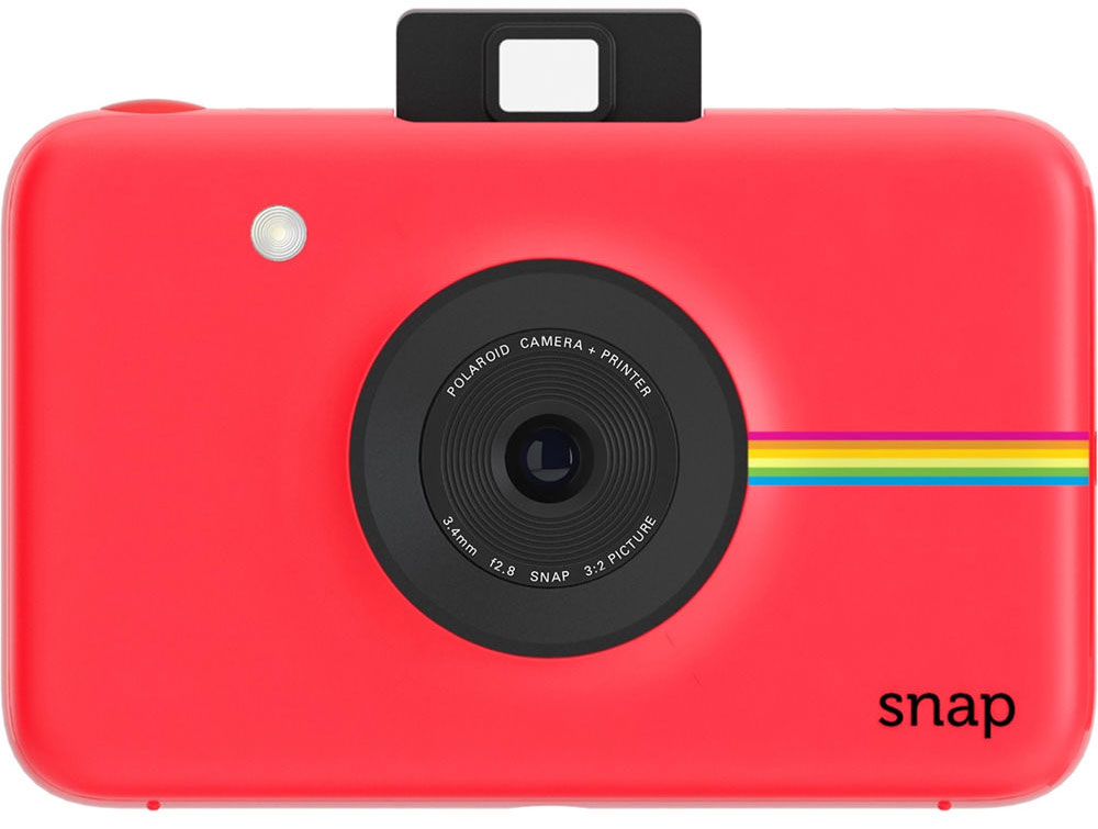Polaroid Snap, Red фотокамера мгновенной печати - Цифровые фотоаппараты