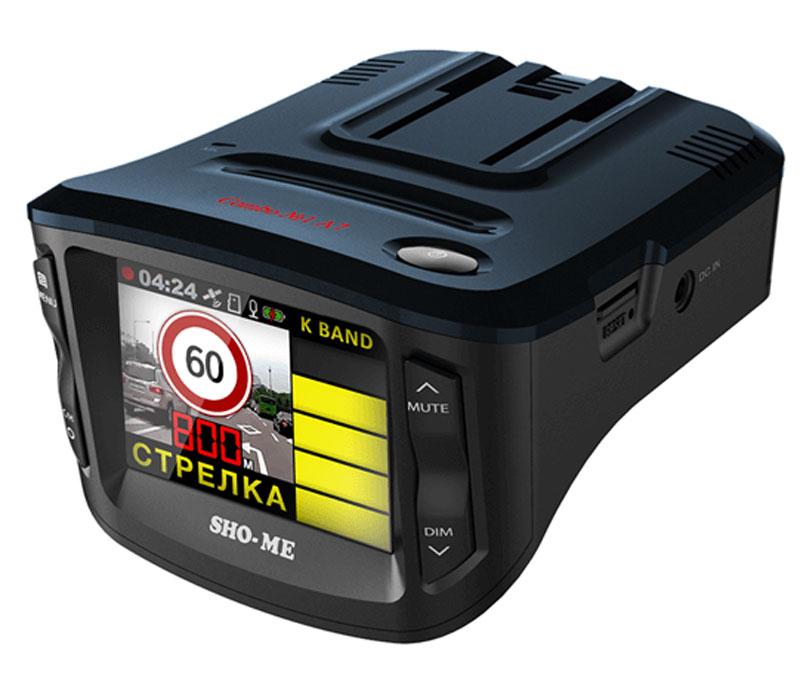 Sho-Me Combo №1 А7 видеорегистратор с радар-детекторомCOMBO №1-А7видеорегистратор с радар-детектором Sho-Me Combo №1 А7 - уникальная комбинация самых важных для автомобилиста функций – запись происходящего на видео в высоком качестве (Full HD) и оповещение о сигналах полицейских радаров, принятых антенной и/или определяемых с помощью GPS/ГЛОНАСС-приемника.Определение радарных сигналов во всех актуальных диапазонах – Х, К, Ка и сигналов лазерных измерителей (включая ЛИСД и Амата), а также сигналов комплекса Стрелка (более 1 км), Робот, Места и прочихОпределение силы сигнала (1-5), в том числе сила сигнала СтрелкиРежимы Город/Трасса для уменьшения ложных срабатыванийСкоростные фильтры (отключение оповещения о принимаемых сигналах при движении ниже выбранной скорости)Автоматическое приглушение громкостиРегулировка яркости дисплеяВозможность отключения диапазонов пользователемСохранение настроекГолосовое оповещениеОбновление базы данных камер и радаров, а также программного обеспечения с помощью карты памятиПроцессор: Ambarella A7LA30 Оперативная память: 128 МБ DDR3Внутренняя память: 128 МБ (NAND SLC)Датчик изображения: 1/3 дюйм, OV4689