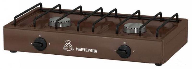 Мастерица 1217К, Brown плита газоваяМастерица -1217КНадежная газовая плитка Мастерица 1217К с двумя конфорками. Идеальна для дома и дачи, в любое время года. Подходит для газа из баллонов и природного газа. Компактный корпус, покрытый эмалью, позволяет легко мыть и ухаживать за прибором. Данная модель обладает большой мощностью горелок, что позволяет за несколько минут разогреть обед или вскипятить чайник с водой.Давление природного газа: 2000 ПаДавление сжиженного газа: 3000 Па
