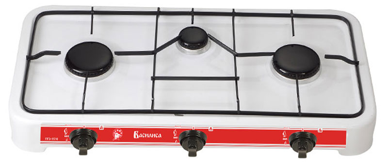 Василиса ГП3-1510, White плитка газовая - Настольные плиты