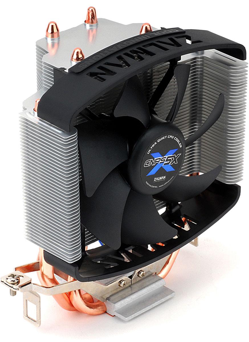 Zalman CNPS5X Performa кулер для процессораCNPS5X PerformaZalman CNPS5X Performa подходит для целого ряда сокетов Intel LGA 1155 / 1156 / 775 и AMD FM1 / AM3 / AM2+ / AM2. Три тепловые трубки и алюминиевые ребра спроектированы для обеспечения максимального охлаждения. При этом кулер быстро выводит горячий воздух из корпуса. Ультратихий 92мм вентилятор с подшипником EBR минимизирует уровень шума и прекрасно охлаждает. PWM (Pulse Width Modulation) автоматически регулирует скорость вращения вентилятора, в зависимости от температуры процессора. Кулер имеет специальные зажимы, с которыми вы сможете установить его без использования инструментов. В комплект входит термопаста высокого качества ZM-STG2M, улучшающая теплопроводимость.