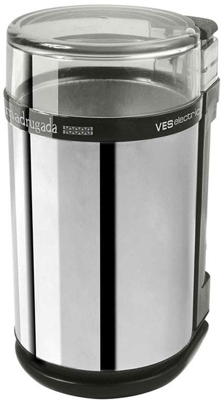 Ves 720 кофемолкаVES 720Электрическая кофемолка Ves 720 выполнена в элегантном корпусе из прочного пластика. Прибор оборудован надежным мотором мощностью 150 Вт, импульсным режимом и ножом с острыми лезвиями из высококачественной нержавеющей стали. Все это позволяет сделать процесс помола кофейных зерен быстрым и легким. Прозрачная крышка позволит наблюдать за процессом, контролируя степень помола. Защита от непроизвольного включения гарантирует высокую степень безопасности.