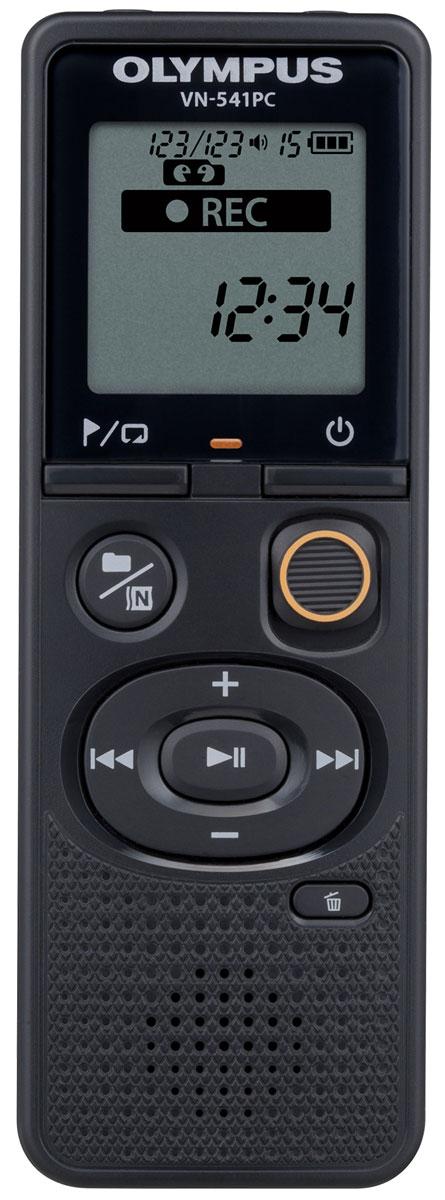 Olympus VN-541PC диктофон + микрофон ME-52V405281BE020Диктофон Olympus VN-541PC разработан для мгновенных диктовок. Просто передвиньте переключатель REC, и диктофон мгновенно начнет запись, даже если он был выключен. Переключатель расположен на передней панели устройства, позволяя использовать диктофон вслепую. Вы больше никогда не упустите нужную информацию.Легкий в использовании диктофон VN-541PC - идеальное решение для студентов и тех, кто только начинает пользоваться цифровыми аудио-рекордерами.Фильтр низких частот устраняет такие нежелательные звуки, как шум кондиционеров, проекторов, ветра, чтобы обеспечить еще более высокое качество аудиозаписи. В диктофоне фильтр низких частот всегда активен - кроме выбранной сцены Music.Подключите микрофон ME-52 в специальный разъем, чтобы расширить возможности вашего диктофона. Используйте разъем для наушников, чтобы прослушивать записывающийся звук.Корпус диктофона был значительно улучшен: увеличенные кнопки удобно нажимать большим пальцем, фронтальный динамик удобно использовать для прослушивания записей. Форма диктофона разработана в соответствии с анатомией кисти, поэтому его невероятно удобно держать в руке.Низкое энергопотребление и более энергоемкий аккумулятор делают диктофоны серии VN ещё более удобными в использовании.Шумоподавляющий микрофон ME-52 уменьшает фоновый шум, обеспечивая чистую запись. Он подключается напрямую к входу микрофона, и оснащен специальным механизмом для регулировки положения. В комплект поставки входят защитный экран от ветра, расширительный провод (1м) и прищепка для крепления микрофона на одежду.Встроенный круглый динамик 20 ммШумоподавлениеВстроенный моно микрофон