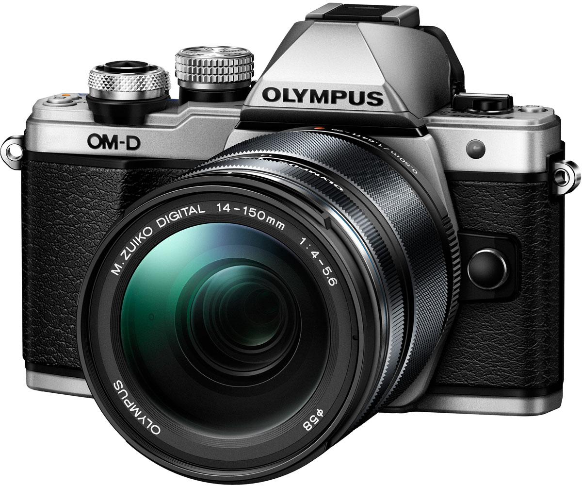 Olympus OM-D E-M10 Mark II Kit 14-150 II, Silver фотокамераV207054SE000Olympus OM-D E-M10 - тонкая, красивая, лёгкая системная камера, лучшая по соотношению цена/качество в своём классе. Беззеркальная камера системы Микро 4/3 укомплектована самыми последними технологиями: большим электронным видоискателем, высокоскоростным автофокусом, встроенным модулем Wi-Fi, а также встроенной вспышкой. E-M10 оставляет позади зеркальные камеры как по размеру, так и по качеству изображения!Е-М10 делает процесс фотографии простым. Камеру приятно держать в руках благодаря бескомпромиссному качеству сборки и эргономичности. Интуитивное управление, высокая скорость работы, электронный видоискатель (ЭВИ) высокого разрешения и ультраскоростной 81-точечный автофокус FAST AF предоставят вам полный контроль над съёмкой. Встроенный в камеру 3-осевой стабилизатор VCM обеспечит резкие изображения без смазов.Фотоаппарат награждён престижной премией Продукт года. Он гарантирует высочайшее качество снимков, скорость фокусировки E-M5 и мощность флагмана E-M1, причем эти уникальные возможности заключены в компактном и элегантном металлическом корпусе.Тип сенсора: 4/3 МОП (MOS) - сенсор реального изображенияФормат изображения: 16:9, 1:1, 3:2, 3:4, 4:3Процессор: TruePic VIIЗащита от пыли: Ультразвуковой волновой фильтрКомпенсация экспозиции: +/- 5 EV (1, 1/2, 1/3 ступени)Технология коррекции тенейХудожественные фильтры: Поп арт, мягкий фокус, мягкий свет, светлая тональность, зернистая пленка, пинхол, диорама, кросс-процесс, драматическая тональность, нежная сепия, контурная резкость, акварельВстроенный стереомикрофон с фукцией подавления шумаФормат записи звука: Стерео РСМ/16 бит, 48 кГц, формат Wave