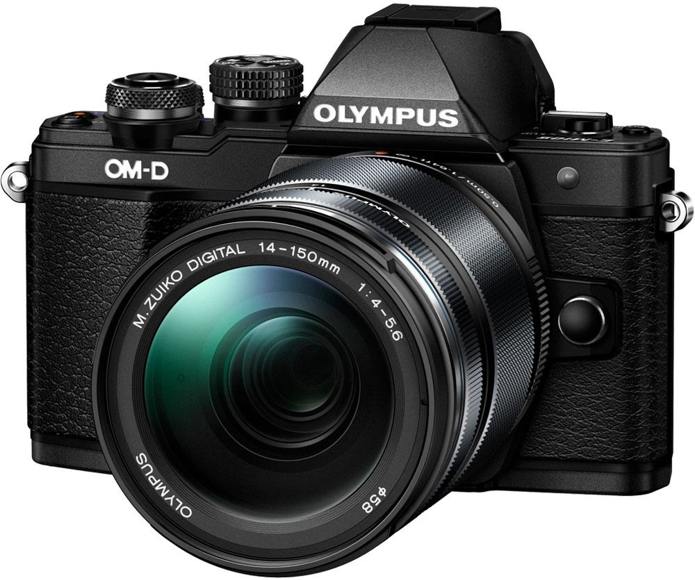 Olympus OM-D E-M10 Mark II Kit 14-150 II, Black фотокамераV207054BE000Olympus OM-D E-M10 - тонкая, красивая, лёгкая системная камера, лучшая по соотношению цена/качество в своём классе. Беззеркальная камера системы Микро 4/3 укомплектована самыми последними технологиями: большим электронным видоискателем, высокоскоростным автофокусом, встроенным модулем Wi-Fi, а также встроенной вспышкой. E-M10 оставляет позади зеркальные камеры как по размеру, так и по качеству изображения!Е-М10 делает процесс фотографии простым. Камеру приятно держать в руках благодаря бескомпромиссному качеству сборки и эргономичности. Интуитивное управление, высокая скорость работы, электронный видоискатель (ЭВИ) высокого разрешения и ультраскоростной 81-точечный автофокус FAST AF предоставят вам полный контроль над съёмкой. Встроенный в камеру 3-осевой стабилизатор VCM обеспечит резкие изображения без смазов.Фотоаппарат награждён престижной премией Продукт года. Он гарантирует высочайшее качество снимков, скорость фокусировки E-M5 и мощность флагмана E-M1, причем эти уникальные возможности заключены в компактном и элегантном металлическом корпусе.Тип сенсора: 4/3 МОП (MOS) - сенсор реального изображенияФормат изображения: 16:9, 1:1, 3:2, 3:4, 4:3Процессор: TruePic VIIЗащита от пыли: Ультразвуковой волновой фильтрКомпенсация экспозиции: +/- 5 EV (1, 1/2, 1/3 ступени)Технология коррекции тенейХудожественные фильтры: Поп арт, мягкий фокус, мягкий свет, светлая тональность, зернистая пленка, пинхол, диорама, кросс-процесс, драматическая тональность, нежная сепия, контурная резкость, акварельВстроенный стереомикрофон с фукцией подавления шумаФормат записи звука: Стерео РСМ/16 бит, 48 кГц, формат Wave