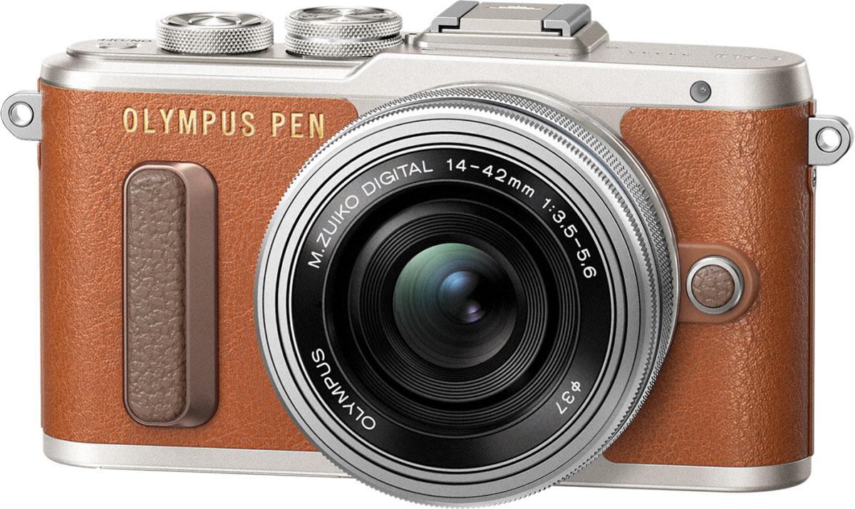 Olympus PEN E-PL8 Kit 14-42 EZ, Brown фотокамера - Цифровые фотоаппараты