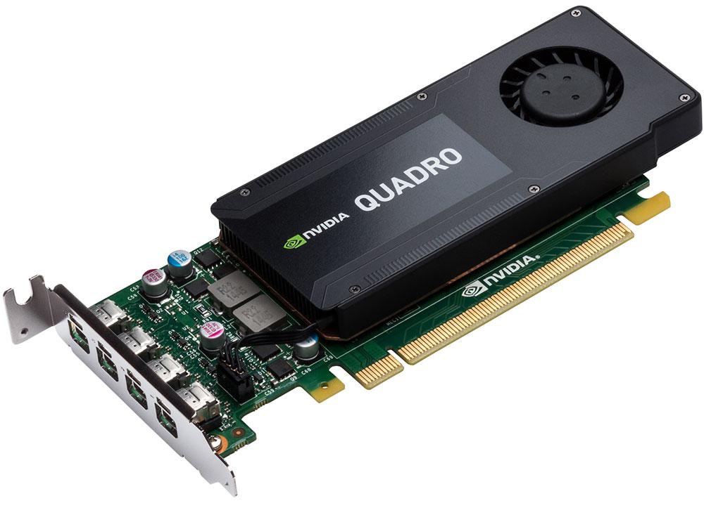 PNY NVIDIA Quadro K1200 4GB видеокартаRVCQK1200DVI-PBВидеокарта PNY NVIDIA Quadro K1200 обеспечивает невероятную производительность 3D приложений и возможность выводить изображение одновременно на четыре 4K дисплея.Данная модель включает в себя установочный кронштейн высокого профиля, позволяющий устанавливать её в любую рабочую станцию. С помощью прилагаемого низкопрофильного кронштейна она так же может быть использована в мобильных и компактных рабочих станциях.Технология NVIDIA Power Management снижает суммарные затраты на потребляемую системой электроэнергию. Она использует интеллектуальный подход при адаптации суммарного потребления видеосистемы в зависимости от приложений, выполняемых конечным потребителем. Оптимизированная система потребления электроэнергии помогает снизить суммарную стоимость владения всей системы и повысить ее надежность.4 ГБ памяти GDDR5 с высокой пропускной способностью позволяет создавать большие и сложные 3D модели.