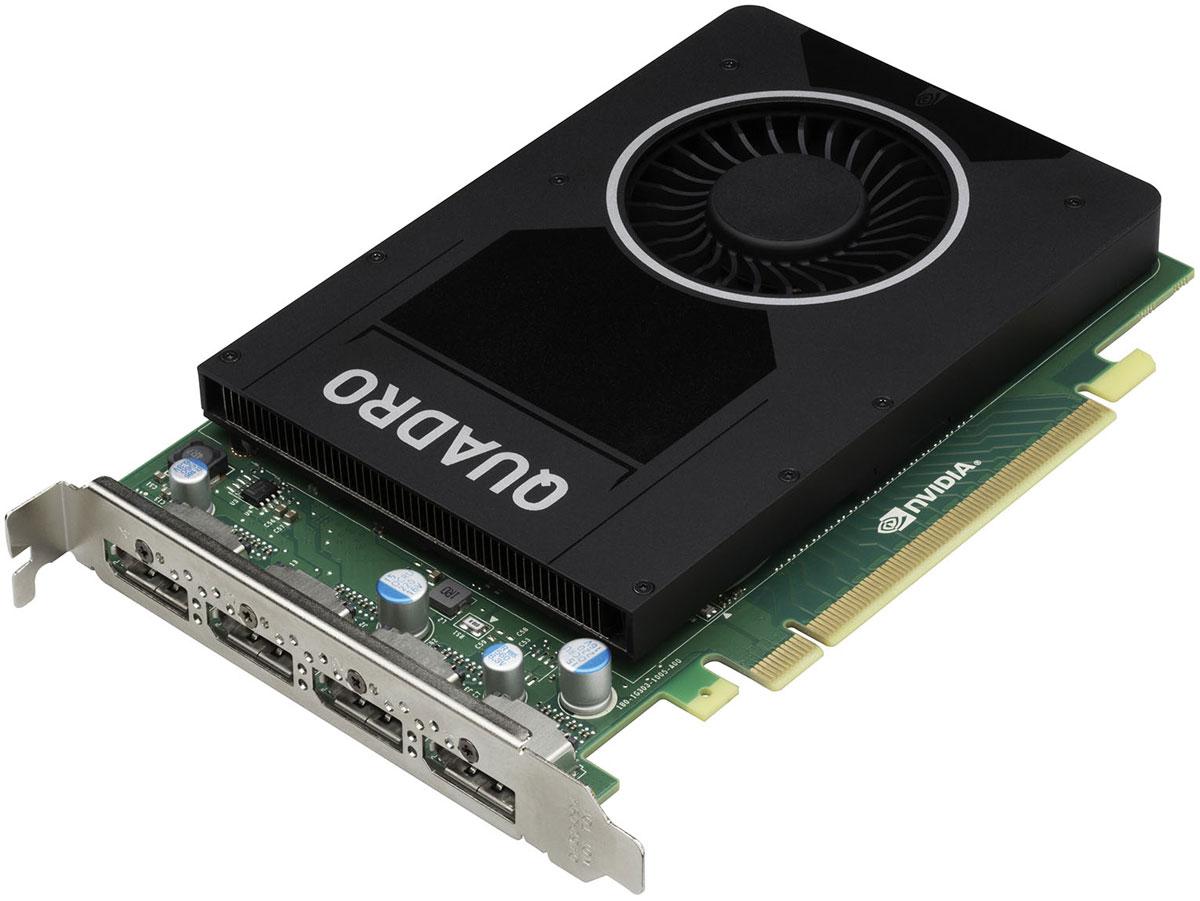 PNY NVIDIA Quadro M2000 4GB видеокартаVCQM2000-PBВидеокарта PNY NVIDIA Quadro M2000 обеспечивает невероятные творческие возможности в профессиональных приложениях для работы с 3D графикой.Видеочип, основанный на новой архитектуре NVIDIA Maxwell, имеет объем видеопамяти 4 ГБ и поддерживает воспроизведение на четырех дисплеях с разрешением 4K.Данная модель - отличный выбор чтобы ускорить разработку продуктов и создание контента, требующего работы со сложными моделями и схемами. Профессионалы могут с успехом использовать повышенную производительность, а также аппаратные HEVC/H.265 кодирование и декодирование, для ускорения работы с контентом.PNY Technologies поставляет профессиональные графические карты со всеми необходимыми принадлежностями, включая соответствующие адаптеры, кабели, кронштейны, установочный диск и документацию для обеспечения быстрой и успешной установки.