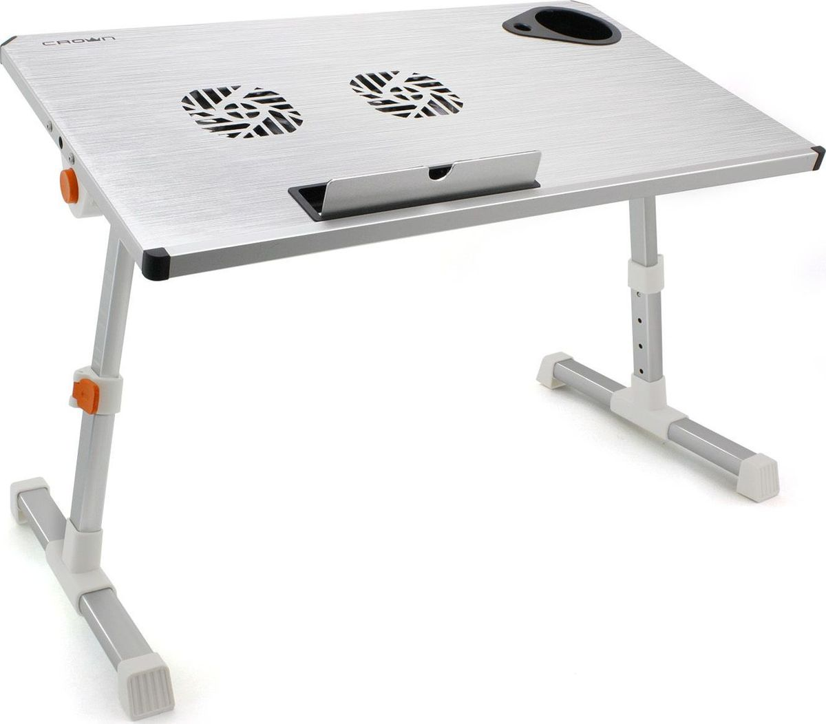 Crown CMLS-101, Silver столик для ноутбука 17CM000001326Особенности:Прочный и стильный дизайн;Удобство использования: свободная регулировка высоты и угла наклона;Легко складывается в компактную конструкцию для хранения или транспортировки;Многофункциональность: стол для ноутбука, журнальный стол и т.д.