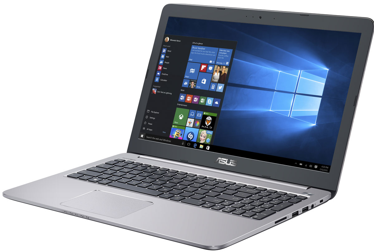 ASUS K501UX-DM781T, Grey (90NB0A62-M04550)90NB0A62-M04550Надежный и комфортный в работе ноутбук Asus K501UX выполнен в современном корпусе с красивой отделкой.Asus K501UX отлично подходит и для работы с офисными программами, и для запуска мультимедийных приложений. В его аппаратную конфигурацию входят процессоры Intel Core, современное графическое ядро и высокоскоростной интерфейс USB 3.0. Ноутбук гарантирует моментальный выход из режима сна и комфортную работу практически в любых приложениях.Интеллектуальная система двойного охлаждения вентилятора- это модернизированная интеллектуальная система охлаждения с двумя независимыми вентиляторами, обеспечивающими охлаждение процессора и GPU. Эта исключительная система система поддерживает необходимую температуру, чтобы предотвратить перегрев и обеспечить стабильность системы, работаете ли вы на ресурсоемких задачах или играете.Asus IceCool обеспечивает температуру поверхности ноутбука между 28 и 35 градусами, что значительно ниже, чем температура тела, таким образом ваша работа за компьютером будет наиболее комфортной.Высокоскоростной интерфейс USB 3.0 в десять раз быстрее USB 2.0, поэтому он отлично подходит для передачи больших файлов, например, видео высокой четкости, и значительных объемов других данных между устройствами. К примеру, 25-гигабайтный фильм копируется на внешний накопитель всего за 70 секунд!Asus K501UX с его простыми линиями и минималистическим дизайном с металлической отделкой в равной степени подходит для использования как дома так и на рабочем месте. Необходимо отметить такие изысканные штрихи, как пескоструйная обработка поверхностей вокруг клавиатуры, выделенная кнопка питания и алмазная огранка вокруг сенсорной панели.Качество звука обычных ноутбуков ограничено размерами встроенной аудиосистемы. Зачастую звук во всем диапазоне частот генерируются в одном источнике, поэтому ему не хватает глубины. Технология SonicMaster, реализованная в ноутбуках Asus, представляет собой комплекс аппаратных и прогр