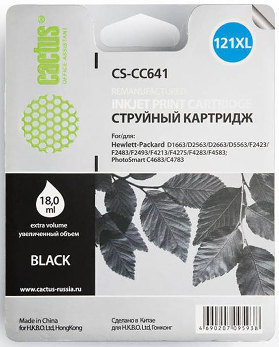 Cactus CS-CC641 №121XL black для HPCS-CC641Картридж Cactus №121 для струйных принтеров HP.