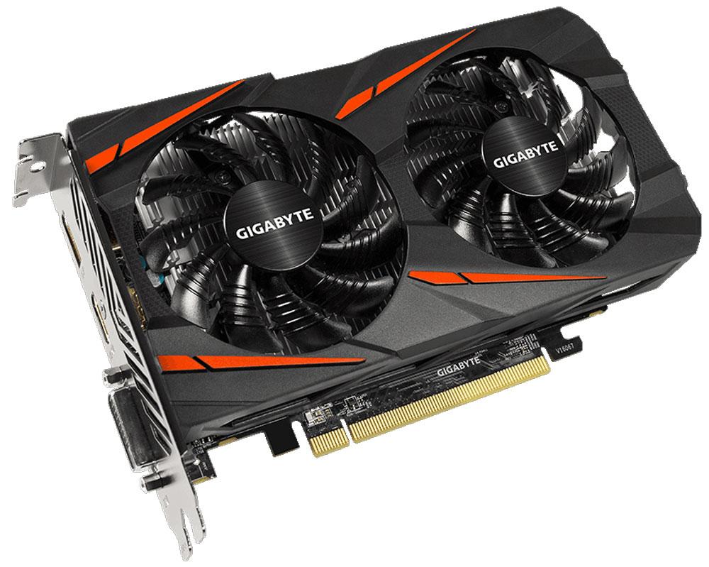 Gigabyte Radeon RX 550 Gaming OC 2GB видеокартаGV-RX550GAMING OC-2GDВидеокарта Gigabyte Radeon RX 550 Gaming OC создана, чтобы удовлетворить все требования опытных игроков. Основано на решении AMD Radeon, архитектура GPU Polaris.Система охлаждения WINDFORCE 2X оснащена двумя вентиляторами 90 мм с уникальным дизайном лопастей. Это позволяет получить эффективный уровень теплорассеивания для высокопроизводительной системы с низкой температурой.Используется полу-пассивный режим работы, вентиляторы останавливают свою работу,если температура чипа не высокая, или нет достаточной нагрузки.Металлическая задняя пластина усиливает конструкцию видеокарты, защищает элементную базу от внешнего механического воздействия и повреждений.При производстве карты используются дроссели и конденсаторы высокого качества, благодаря этому факту графическая карта обеспечивает выдающуюся производительность и долговечность системы.