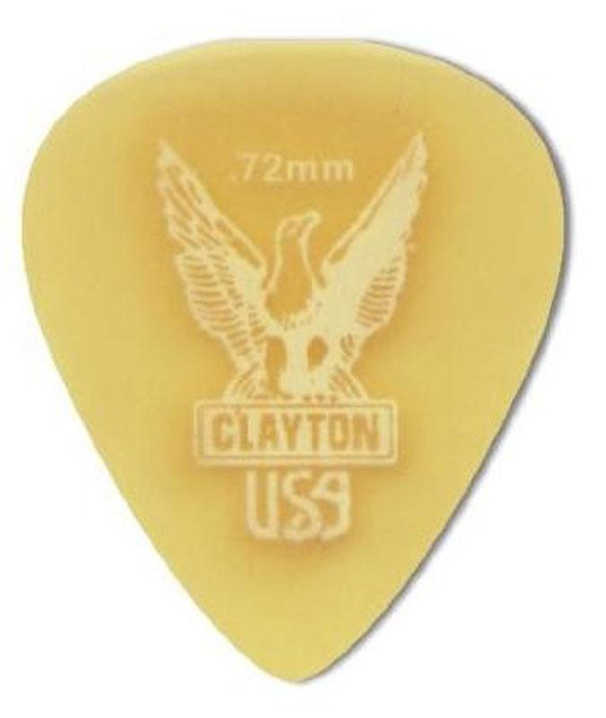 Clayton Ultem Standart 0,72 mm набор медиаторов, 12 шт - Гитарные аксессуары и оборудование