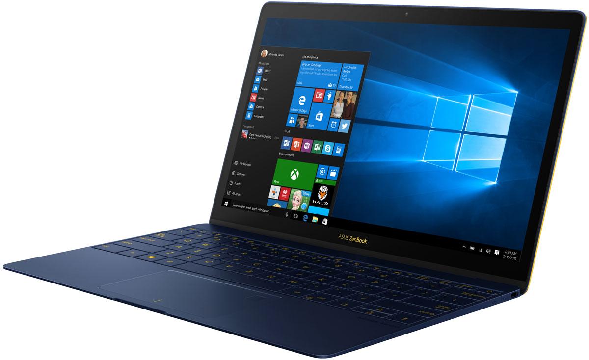 ASUS ZenBook 3 UX390UA, Royal Blue (90NB0CZ1-M04600)90NB0CZ1-M04600Сказать, что ZenBook 3 - это новое поколение ZenBook, значит ничего не сказать: этот ZenBook знаменует собой новую эру мобильных вычислений. Каждая его деталь разработана с чистого листа и исполнена с особой точностью и элегантностью с целью сделать ZenBook 3 самым совершенным ZenBook в истории. Он легче, тоньше, прочнее, мощнее - и неописуемо красив. Попросту - это самый замечательный ноутбук в мире.Разработка ZenBook 3 поставила перед инженерами и технологами ASUS несколько очень серьезных вызовов. Сверхтонкий корпус толщиной 11,9 мм означал, что придется изобрести самые миниатюрные в мире шарниры для крепления крышки ноутбука - всего 3 миллиметра высотой - чтобы сохранить благородство его очертаний. Чтобы разместить полноразмерную клавиатуру, понадобилось разработать рабочую панель шириной всего 2,1 мм по краям, а мощная аудиосистема, состоящая из четырех громкоговорителей, разработана в партнерстве со специалистами по звуку компании Harman Kardon. ZenBook знаменит своим уникальным внешним видом и моментально узнается по фирменной концентрической шлифовке корпуса в стиле Дзен - отделке, требующей 32 кропотливых стадии в производстве. Но в ZenBook 3 добавлен дополнительный штрих - в результате специального двухфазного процесса анодирования края ноутбука обзавелись незабываемой золотой отделкой. В завершение нового образа утонченности добавлен золотой логотип ASUS и клавиатура снабжена золотистой - в тон - подсветкой.ZenBook всегда был образцом тонкого и легкого дизайна, но ZenBook 3 вышел на новый, недоступный ранее уровень. Использование высококлассного алюминия, применяемого в аэрокосмических конструкциях - более легкого, чем обычные сплавы для изготовления корпусов ноутбуков, но на 50% более прочного - позволило снизить массу до 910 грамм и довести толщину ноутбука до впечатляющих 11,9 мм. Чтобы сделать дисплей легким и сверхтонким, но при этом сохранить его прочность, его покрыли сверхпрочным с