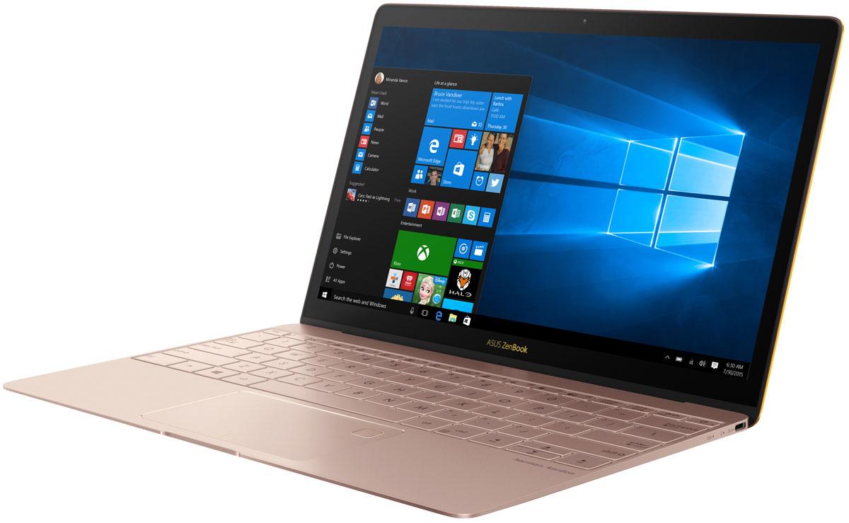 ASUS ZenBook 3 UX390UA, Rose Gold (90NB0CZ2-M06910)90NB0CZ2-M06910Сказать, что ZenBook 3 — это новое поколение ZenBook, значит ничего не сказать: этот ZenBook знаменует собой новую эру мобильных вычислений. Каждая его деталь разработана с чистого листа и исполнена с особой точностью и элегантностью с целью сделать ZenBook 3 самым совершенным ZenBook в истории. Он легче, тоньше, прочнее, мощнее — и неописуемо красив. Попросту — это самый замечательный ноутбук в мире.Разработка ZenBook 3 поставила перед инженерами и технологами ASUS несколько очень серьезных вызовов. Сверхтонкий корпус толщиной 11,9 мм означал, что придется изобрести самые миниатюрные в мире шарниры для крепления крышки ноутбука — всего 3 миллиметра высотой — чтобы сохранить благородство его очертаний. Чтобы разместить полноразмерную клавиатуру, понадобилось разработать рабочую панель шириной всего 2,1 мм по краям, а мощная аудиосистема, состоящая из четырех громкоговорителей, разработана в партнерстве со специалистами по звуку компании Harman Kardon. ZenBook знаменит своим уникальным внешним видом и моментально узнается по фирменной концентрической шлифовке корпуса в стиле Дзен — отделке, требующей 32 кропотливых стадии в производстве. Но в ZenBook 3 добавлен дополнительный штрих — в результате специального двухфазного процесса анодирования края ноутбука обзавелись незабываемой золотой отделкой. В завершение нового образа утонченности добавлен золотой логотип ASUS и клавиатура снабжена золотистой — в тон — подсветкой.ZenBook всегда был образцом тонкого и легкого дизайна, но ZenBook 3 вышел на новый, недоступный ранее уровень. Использование высококлассного алюминия, применяемого в аэрокосмических конструкциях — более легкого, чем обычные сплавы для изготовления корпусов ноутбуков, но на 50% более прочного — позволило снизить массу до 910 грамм и довести толщину ноутбука до впечатляющих 11,9 мм. Чтобы сделать дисплей легким и сверхтонким, но при этом сохранить его прочность, его покрыли сверхпрочным ст