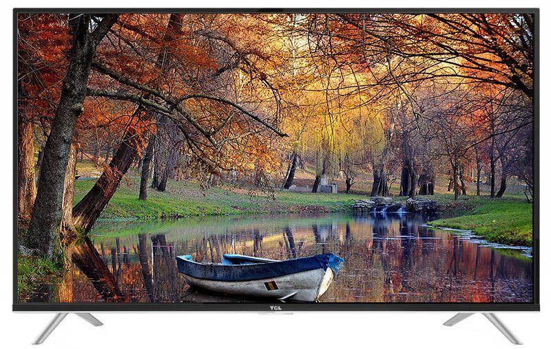 TCL L40E5900US, Black телевизорL40E5900USТонкий 4K LED телевизор L40E5900US от TCL позволяет открыть для себя новое качество изображения в формате 4К. Невероятная четкость стала возможной благодаря мощному четырехъядерному графическому процессору. Каждый кадр подвергаются тщательному анализу, после чего выполняется улучшение качества отображения текстур, контрастности, цветопередачи и контуров. Детализация изображения при использовании подобных технологий в 4 раза выше, чем у телевизоров Full HD.Оптимизация звука и изображения дает возможность в полной мере наслаждаться просмотром динамичных фильмов или спортивных соревнований, обеспечивая полный эффект присутствия.Smart-телевизор TCL L40E5900US откроет для своих обладателей новый мир увлекательных и полезных функций, которые разнообразят жизнь пользователей и превратят устройство в настоящего друга и персонального помощника. Телевизор оснащен операционной системой Android и возможностью беспроводного доступа в интернет, что позволит загружать любимые фильмы и приложения прямо из сети. Кроме того, устройство уже имеет ряд предустановленных приложений и умных функций. Например, таких как телетекст, таймер сна, родительский контроль.Звук Dolby Digital сделает обладателя ТВ участником событий вместе с киногероями. Стереофонический, мощный, обогащенный басами звук никого не оставит равнодушным.Тюнер DVB-T2 позволяет без дополнительного оборудования смотреть телеканалы в цифровом качестве без помех.Стильный корпус легко впишется в любой интерьер, а специальная возможность крепления телевизора на стену позволит разместить устройство с максимальным удобством. TCL L40E5900US может похвастаться современным дизайном корпуса и тонкими рамками экрана.