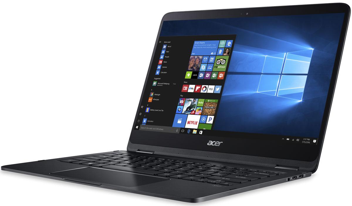 Acer Spin 7 SP714-51-M50P, BlackSP714-51-M50PНевозможно тонкий и невероятно легкий ноутбук Acer Spin 7 создан, чтобы всегда быть под рукой, не обременяя ни весом, ни размером. Благодаря невероятно малой толщине (10,98 мм) и небольшому весу (1,2 кг) этот ноутбук-трансформер удобно всегда носить с собой.Полностью покрытый стеклом Corning Gorilla Glass 14 экран Spin 7 имеет узкие рамки, что позволяет ему уместиться в 13.3 корпусе. IPS-экран с диагональю 14, разрешением Full HD и насыщенной цветопередачей обеспечит высокую реалистичность изображения.Петли небольшого диаметра в креплении Acer 360° обеспечивают надежную фиксацию экрана в 4 удобных режимах: Ноутбук, Дисплей, Презентация и Планшет - работайте так, как вам удобно.Время автономной работы составляет 8 часов, а это значит, что вы можете использовать Spin 7 целый день.Технология одновременного подключения нескольких пользователей к беспроводной сети MU-MIMO 2x2 802.11ac обеспечивает высокую скорость, но иногда этого недостаточно. Сохраняйте максимальную скорость с ноутбуком Spin 7.Наслаждайтесь превосходным звуком Dolby Audio Premium, улучшенным технологией Acer TrueHarmony.Точные характеристики зависят от модели.Ноутбук сертифицирован EAC и имеет русифицированную клавиатуру и Руководство пользователя.