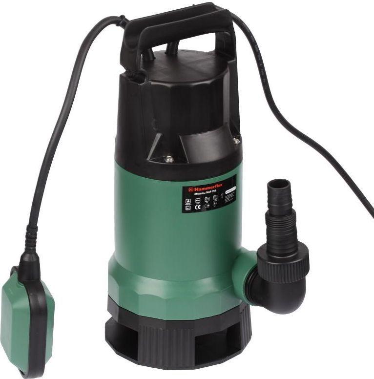 Насос дренажный Hammer Flex NAP750131-025Насос дренажный Hammer Flex NAP750 750Вт 13500л/ч высота 8м частицы до 35мм