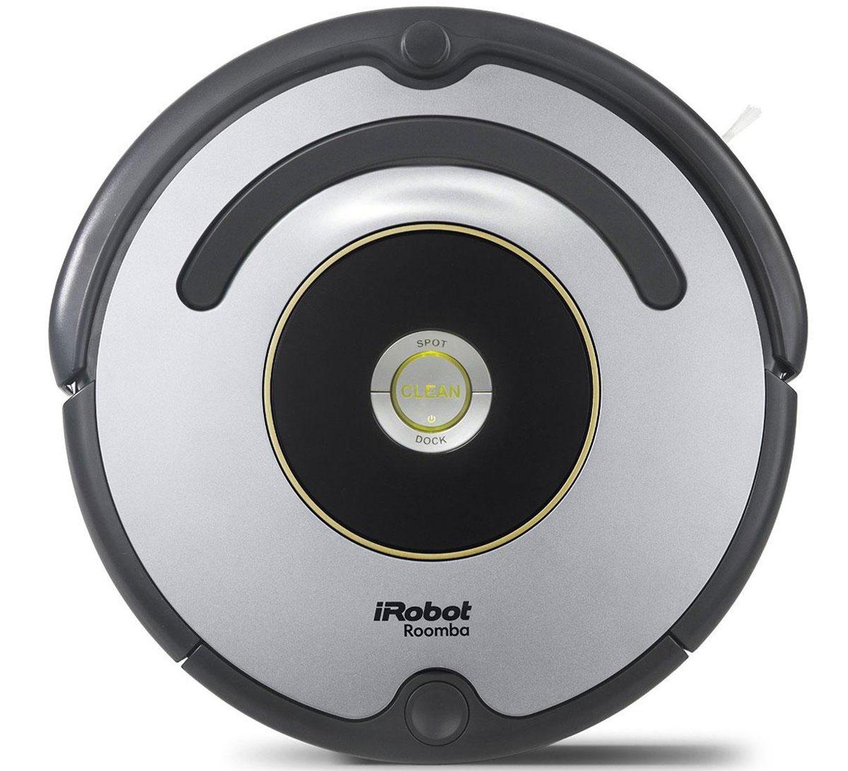 iRobot Roomba 616 робот-пылесосRoomba 616Новая модель Roomba 616. Для запуска нужно всего лишь нажать кнопку «Clean» на роботе, и Roomba 616 самостоятельно очистит до 60 квадратных метров без подзарядки. Укомплектован контейнером AeroVac Bin. Новый контейнер не только имеет повышенную емкость, предназначенную для сбора шерсти, но также оснащен всасывающим устройством и имеет компактный отсек для сбора пыли. Таким образом, теперь нет необходимости в дополнительной чистке помещения базовым контейнером. Еще одна особенность новинки — AeroVac Bin работает в 2 раза тише, чем базовая версия. Roomba 616 — представитель 600-ой серии (6-ого поколения) роботов, которые выпускает компания iRobot, в нем использованы новейшие разработки в области робототехники, навигации в помещении, вакуумной уборки.Roomba 616 предназначен для сухой уборки напольных покрытий: плитки, ламината, паркета, ковров с коротким ворсом.Русифицированный языковой модуль.Убирает 3 комнаты на 1 подзарядке.Возвращается на зарядную базу после окончания цикла уборки.Укомплектован контейнером AeroVac Bin.Вращающиеся с высокой скоростью щетки эффективно собирают мусор в мусоросборник, легко вынимаются и очищаются.Фильтр тонкой очистки удерживает мелкие частицы пыли и аллергены.Оснащен системой «антипутаница», которая помогает Roomba не застревать в проводах, шнурах, бахроме ковров.Боковая лопастная щетка позволяет очень эффективно чистить вдоль плинтуса и в углах помещения.Оснащен сенсорами перепада высоты, распознает ступеньки, иные перепады высоты и избегает падения.Робот Roomba применяет запатентованную систему трехуровневой чистки.1. Лопастная щетка чистит пол вдоль плинтусов и в углах комнаты.2. Две вращающиеся в противоположных направлениях щетки загребают мусор мусоросборник.3. Пылесос собирает оставшуюся грязь, а фильтр задерживает пыль и мелкие частицы. Roomba применяет запатентованную систему трехуровневой чистки.Лопастная щетка чистит пол вдоль плинтусов и в углах комнаты, направляет мусор к основным 