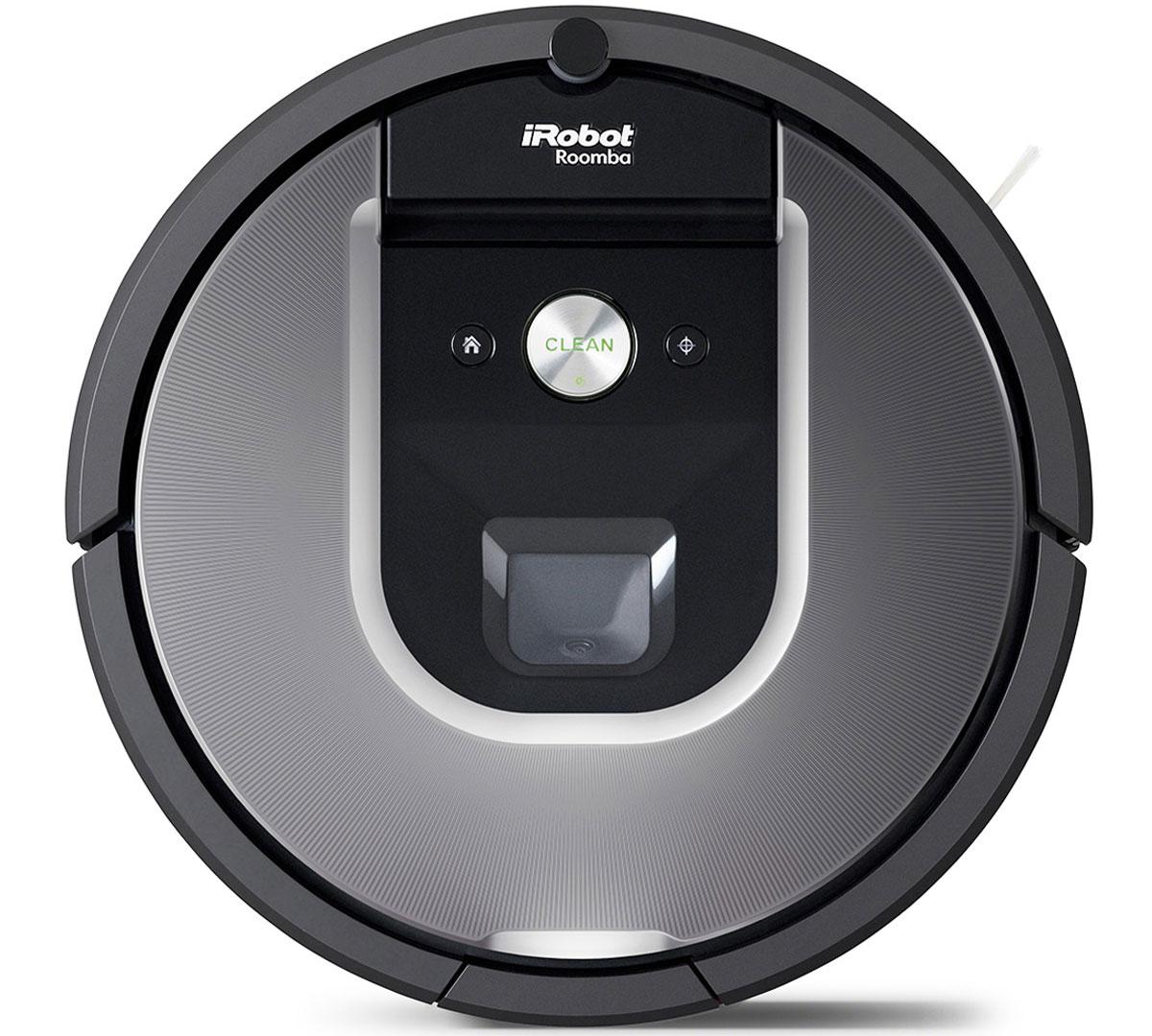 iRobot Roomba 960 робот-пылесосRoomba 960Робот-пылесос iRobot Roomba 960 предназначен для полностью автономной уборки вашей квартиры и дома.Он оснащён беспроводным модулем Wi-Fi для подключения к домашней сети. Теперь Вы можете запускать робот-пылесос когда захотите из любой точки мира. А так же управлять иконтролировать пылесос с помощью мобильного приложении iRobot Home для Android и iOS.Модель использует высокоэффективную систему навигации, большое количество датчиков и 2 камеры для построения карты помещения, адаптации к условиям интерьера и типам напольных покрытий. Это гарантирует, что ни один участок пола не останется без внимания. А благодаря нижней камере робот распознаёт типы напольных покрытий и при уборке ковра автоматически увеличивает силу всасывания в 10 раз. На одном заряде аккумуляторной батареи робот способен убираться до 180 минут. Если же заряда не хватило на уборку всей площади - робот самостоятельно вернется на зарядную базу и после подзарядки продолжит уборку с того места, на котором остановился. Впервые в роботе-пылесосе Roomba была применена запатентованная технология - Визуальная система оперативного ориентирования и составления карты (vSLAM), которая регистрирует ориентиры, отслеживает траекторию перемещения и запоминает маршрут уборки. Модель Roomba 960, как и модели предыдущей 800-й серии, для уборки используют два резиновых валика-скребка, что уменьшает наматывание волос, шерсти и облегчает очистку после уборки. Улучшена функция виртуальной стены, которая позволят оградить определенные зоны помещения, чтобы защитить от работающего робота миски для пищи и воды домашних животных, а также другие вещи, которые вы держите на полу и не хотите убирать при работе пылесоса. Два режима ограждения в одном устройстве: линейное и радиальное ограждение.Емкость аккумулятора: 2130 мАчДатчик перепада высот