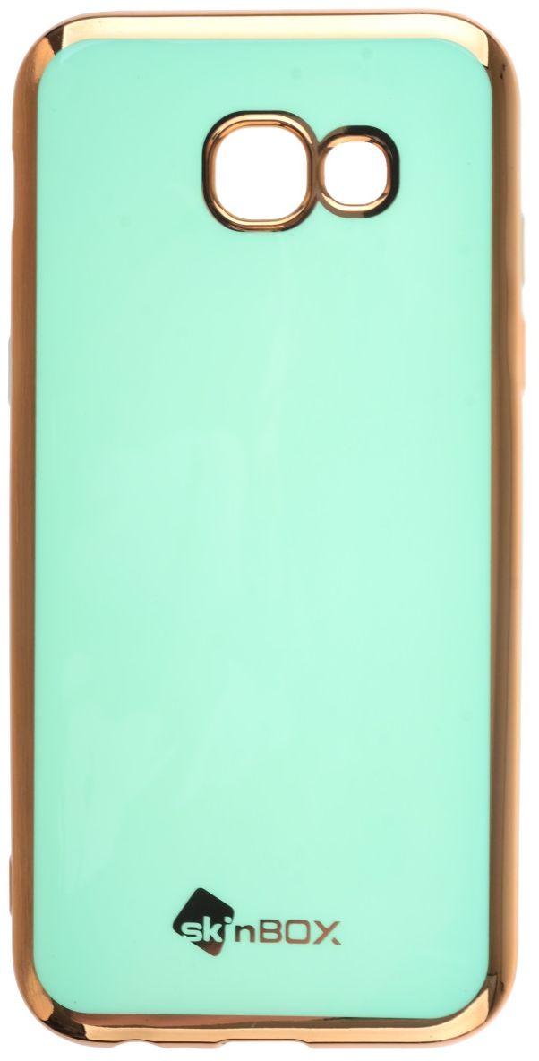 Skinbox Silicone чехол для Samsung Galaxy A5 (2017), Mint2000000135496Чехол надежно защищает ваш смартфон от внешних воздействий, грязи, пыли, брызг. Он также поможет при ударах и падениях, не позволив образоваться на корпусе царапинам и потертостям. Чехол обеспечивает свободный доступ ко всем функциональным кнопкам смартфона и камере.