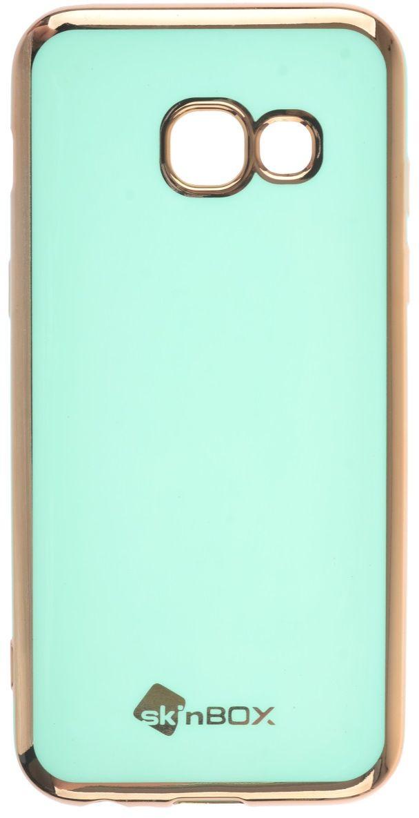 Skinbox Silicone чехол для Samsung Galaxy A3 (2017), Mint2000000135533Чехол надежно защищает ваш смартфон от внешних воздействий, грязи, пыли, брызг. Он также поможет при ударах и падениях, не позволив образоваться на корпусе царапинам и потертостям. Чехол обеспечивает свободный доступ ко всем функциональным кнопкам смартфона и камере.