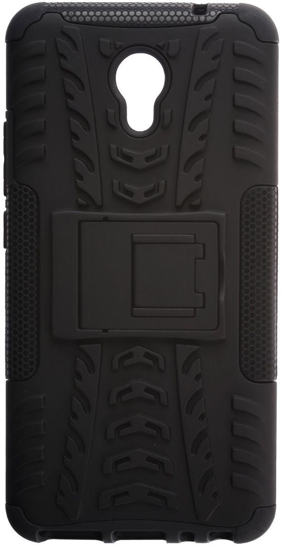 Skinbox Defender Case чехол для Meizu M5 Note, Black2000000132068Чехол надежно защищает ваш смартфон от внешних воздействий, грязи, пыли, брызг. Он также поможет при ударах и падениях, не позволив образоваться на корпусе царапинам и потертостям. Чехол обеспечивает свободный доступ ко всем функциональным кнопкам смартфона и камере.