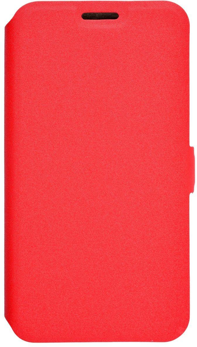 Prime Book чехол для Samsung Galaxy J2 Prime, Red2000000122762Чехол надежно защищает ваш смартфон от внешних воздействий, грязи, пыли, брызг. Он также поможет при ударах и падениях, не позволив образоваться на корпусе царапинам и потертостям. Чехол обеспечивает свободный доступ ко всем функциональным кнопкам смартфона и камере.