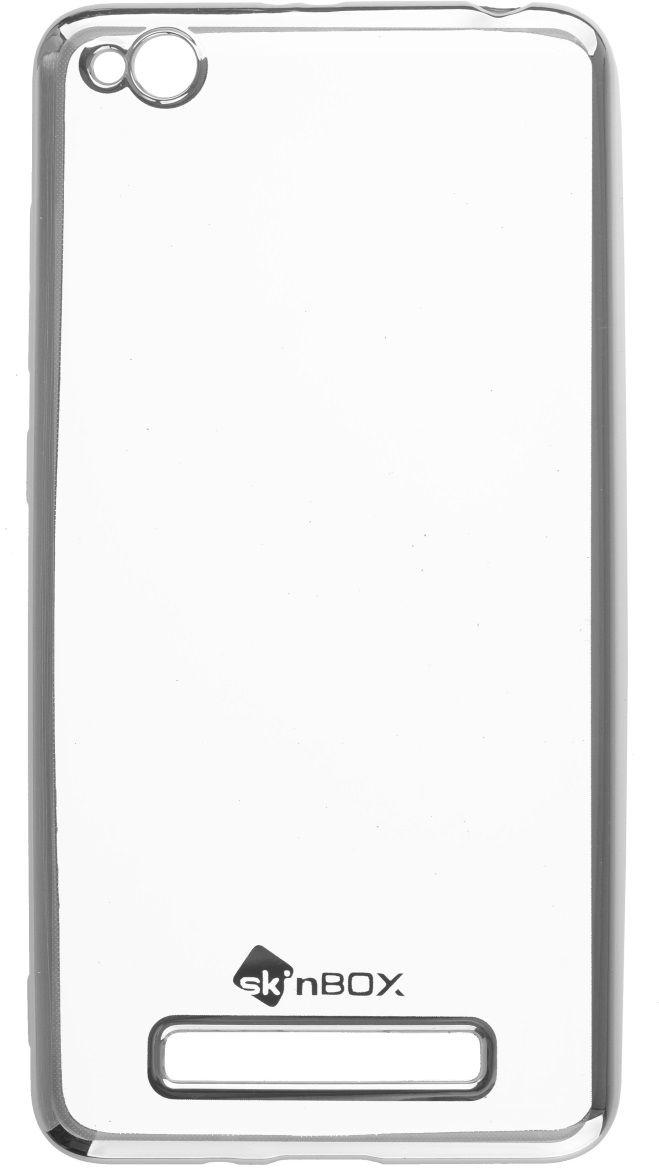 Skinbox Silicone Chrome Border 4People чехол для Xiaomi RedMi 4A, Silver2000000131894Чехол надежно защищает ваш смартфон от внешних воздействий, грязи, пыли, брызг. Он также поможет при ударах и падениях, не позволив образоваться на корпусе царапинам и потертостям. Чехол обеспечивает свободный доступ ко всем функциональным кнопкам смартфона и камере.