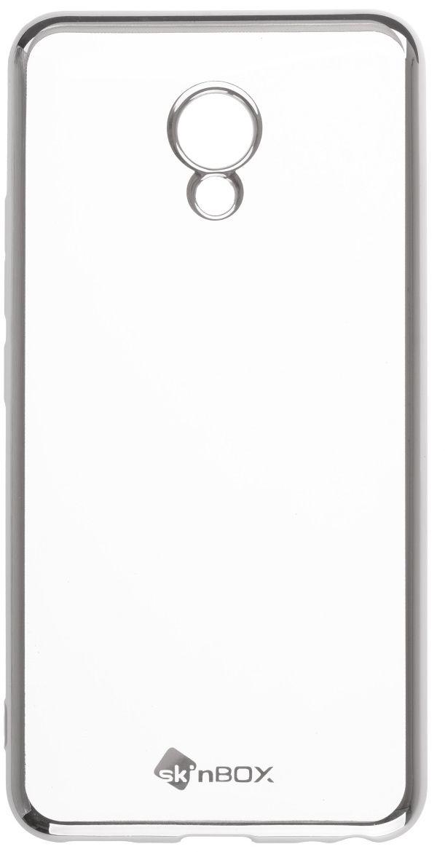 Skinbox Silicone Chrome Border 4People чехол для Meizu M5, Silver2000000131986Чехол надежно защищает ваш смартфон от внешних воздействий, грязи, пыли, брызг. Он также поможет при ударах и падениях, не позволив образоваться на корпусе царапинам и потертостям. Чехол обеспечивает свободный доступ ко всем функциональным кнопкам смартфона и камере.