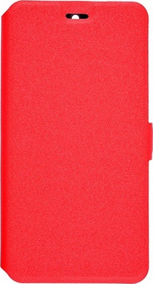 Prime Book чехол для ASUS ZenFone Go (ZB500KL), Red2000000122724Чехол надежно защищает ваш смартфон от внешних воздействий, грязи, пыли, брызг. Он также поможет при ударах и падениях, не позволив образоваться на корпусе царапинам и потертостям. Чехол обеспечивает свободный доступ ко всем функциональным кнопкам смартфона и камере.