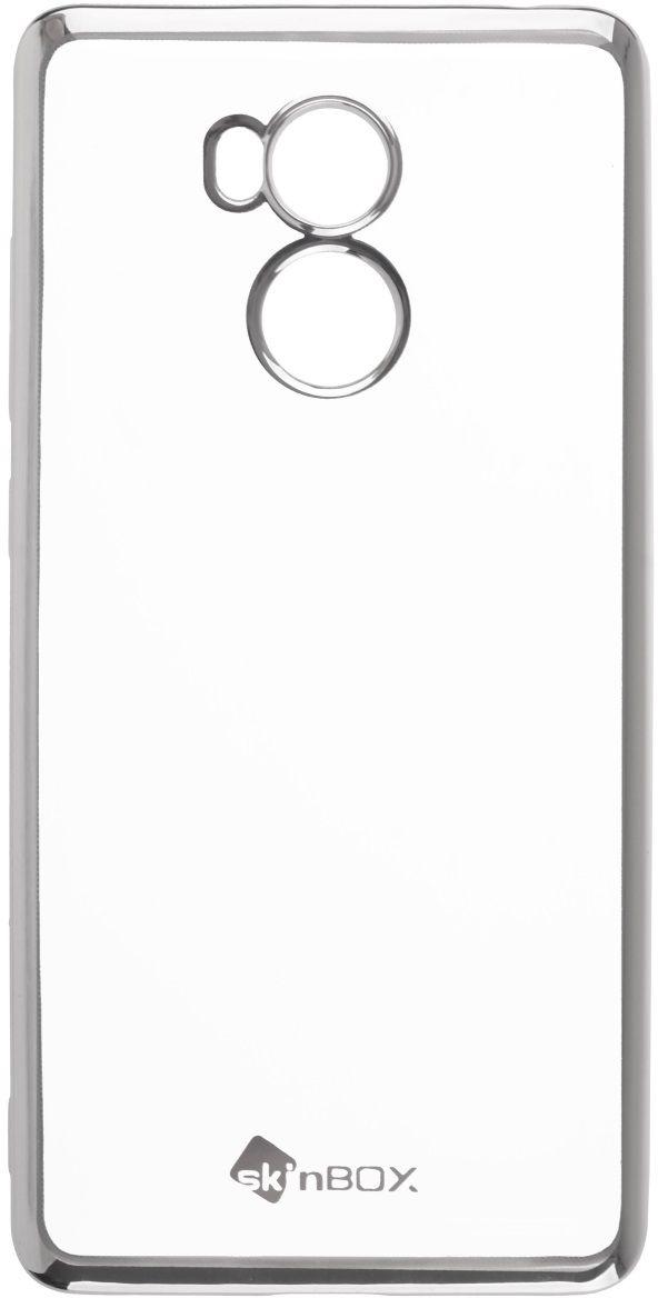Skinbox Silicone Chrome Border 4People чехол для Xiaomi RedMi 4 Pro, Silver2000000131924Чехол надежно защищает ваш смартфон от внешних воздействий, грязи, пыли, брызг. Он также поможет при ударах и падениях, не позволив образоваться на корпусе царапинам и потертостям. Чехол обеспечивает свободный доступ ко всем функциональным кнопкам смартфона и камере.